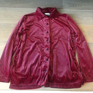 Vintage Russ by Liz Claiborne red houndstooth top